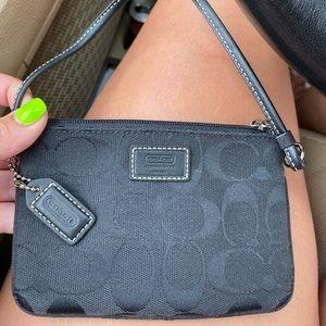"""Coach Wristlet purse with signature """"C"""" design"""